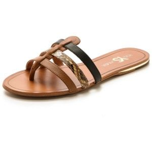 Yosi Samra Corey Leather slip-on Sandal